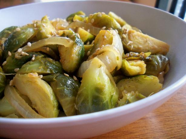 Sesame Ginger Brussel Sprouts