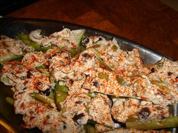 Treva's Stuffed Celery
