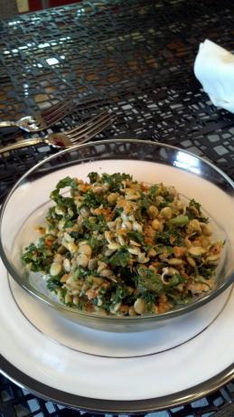 Crunchy Sprouted Lentil Walnut Salad (Raw / Live Food)
