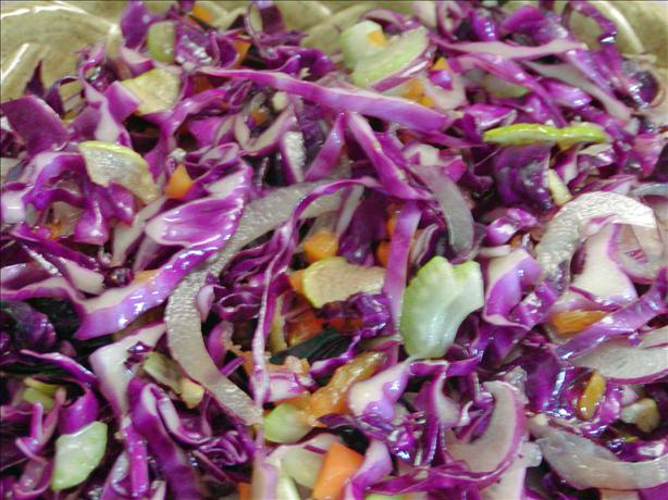 Red Apple, Onion, and Cabbage Salad