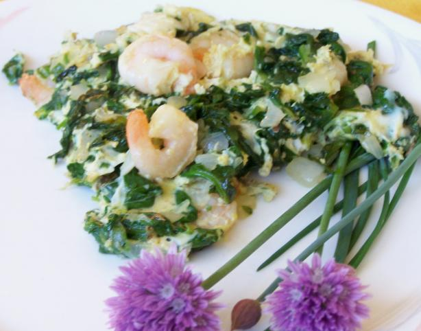 Huevos Revueltos - With Prawns and Baby Spinach