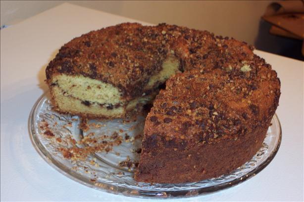 Awesome Chocolate Chip Streusel Coffee Cake