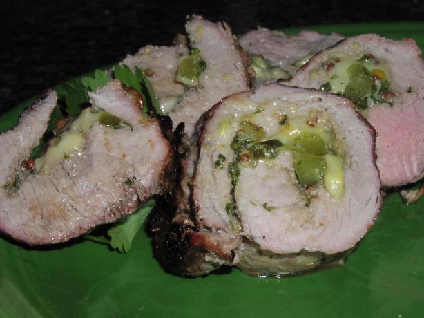 Stuffed Cuban Pork Tenderloin