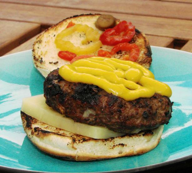 Grilled Backyard Burgundy Burgers