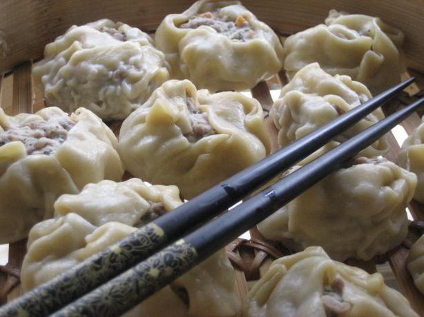 Steamed Chicken and Coconut Shumai (Dim Sum)