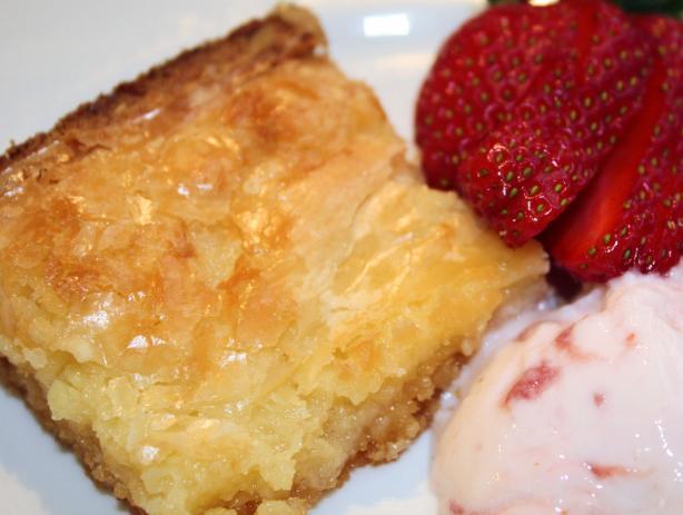 Easy Butter Bars (Cake Mix)
