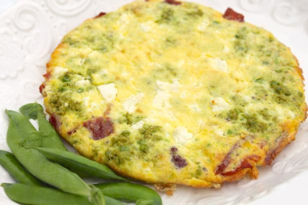 Peasto Frittata With Bacon, Onion and Feta