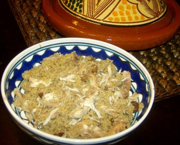 Cinnamon Chicken With Couscous and Dried Fruit