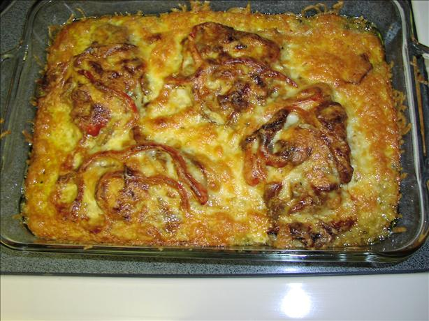 Cheesy Chops and Peppers Casserole
