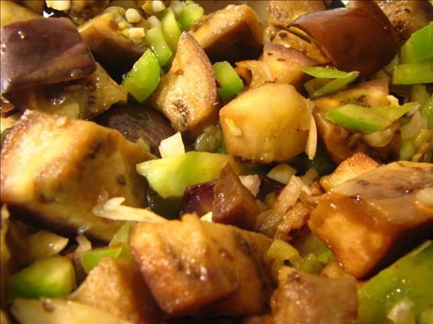 Hajar's Eggplant (Aubergine) Braniya Salad