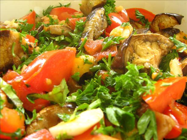 Warm Eggplant (Aubergine) Salad