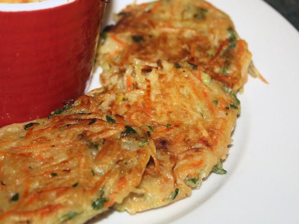 Crispy Carrot and Potato Pancakes (Vegetarian)