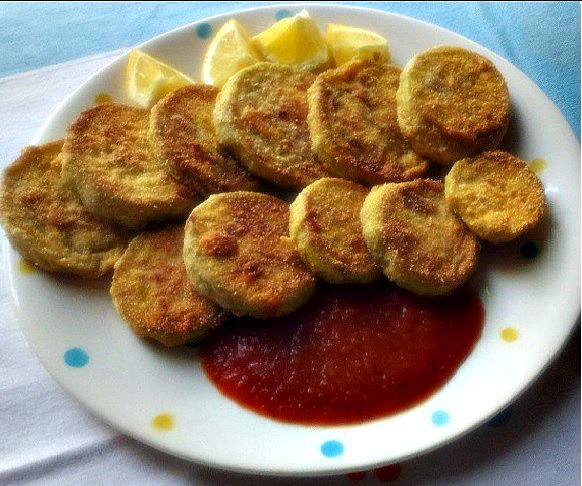 Spicy Fried Eggplant (Aubergine) in Cornmeal