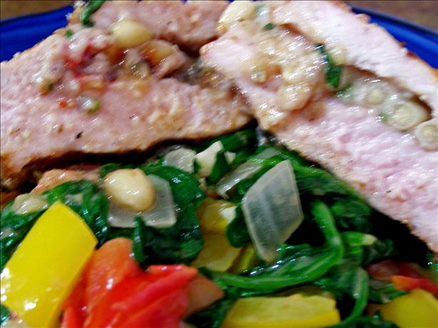 Fig, Pine Nuts and Feta Stuffed Pork Loin