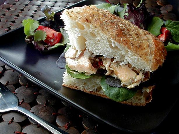 Salmon- Pesto Focaccia Sandwiches