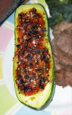 Roasted Summer Squash Boats