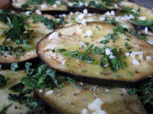 Herb and Garlic Grilled Eggplant (Aubergine)