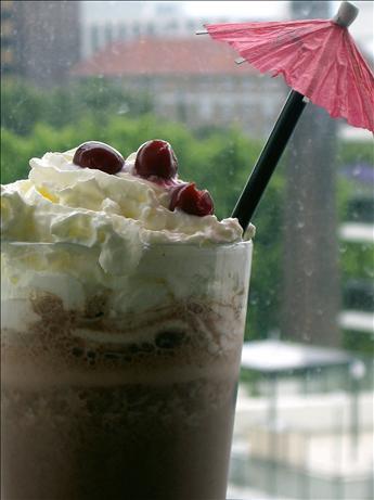 Black Forest Ice Cream Shake