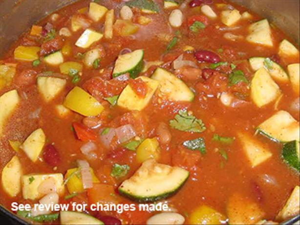 Sweet Pepper Vegetarian Chili