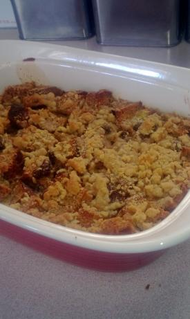 Bread Pudding With Crumb Topping