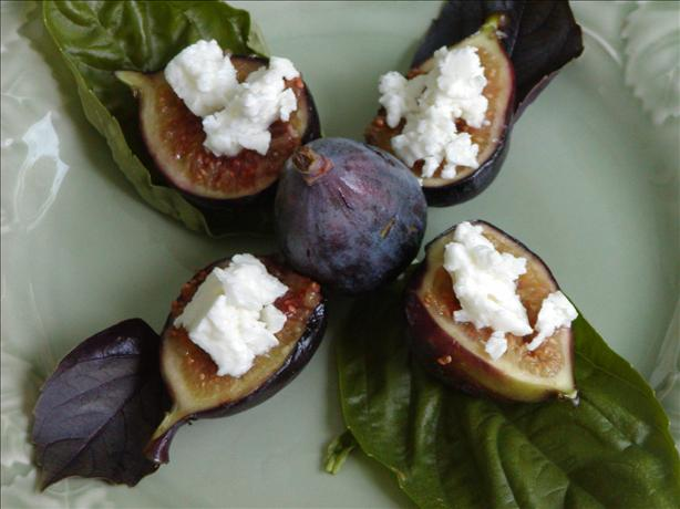 Grilled Figs Topped with Feta Cheese