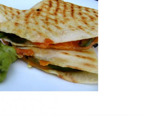 Cheese Quesadillas With Grilled Peppers