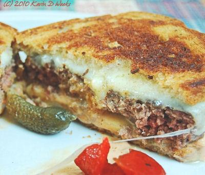 Grilled Turkey Patty Melt
