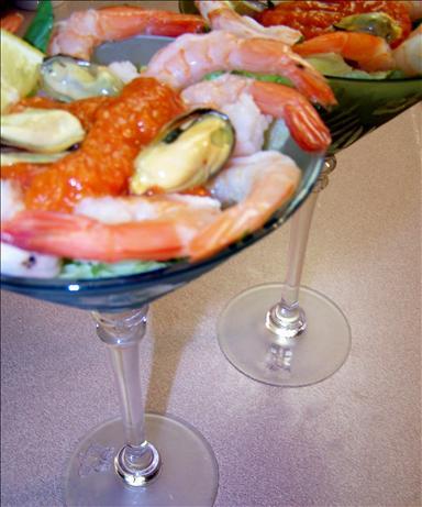 Seafood Salad Martini With Vodka Habanero Dressing