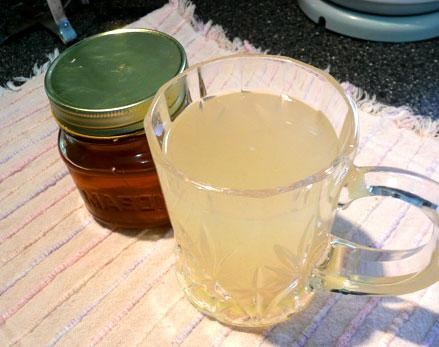 Great Grandma's Hot Honey Lemon Drink
