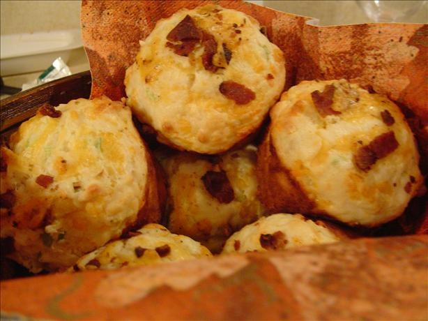 Cheddar Bacon and Green Onion Muffins