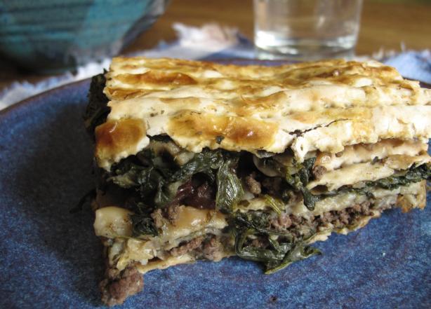 """Scacchi (Mediterranean Passover """"lasagna"""")"""