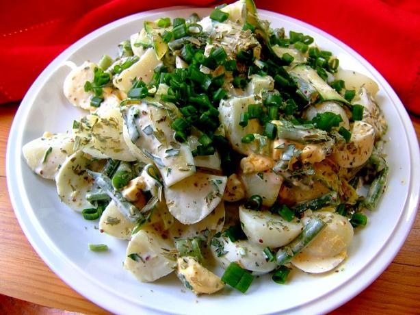 Warm or Cold Potato Garden Salad