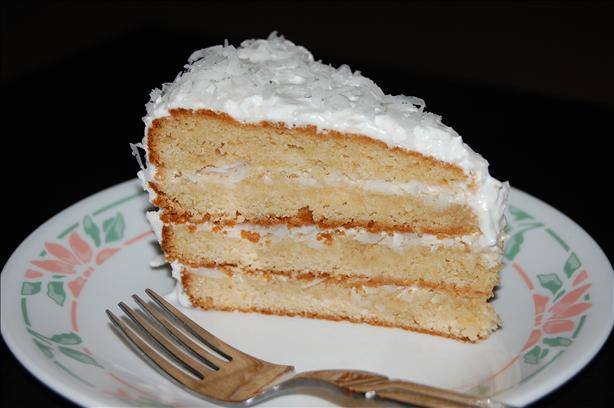 Alton Brown's Coconut Cake With 7 Minute Frosting