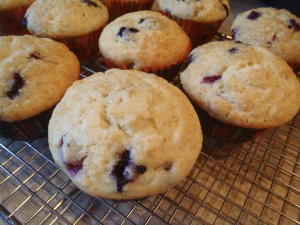 Moody's Blueberry-Raspberry Muffins