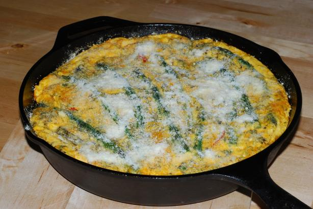Spring Vegetable Frittata (Low Fat/Low Cal)