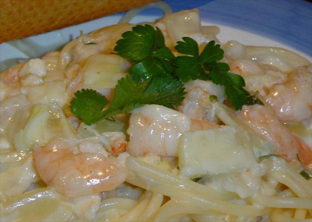 Easy Shrimp & Crab Pasta