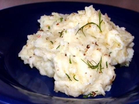 Dill-Sour Cream Mashed Potatoes