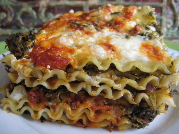Pesto Artichoke Spinach Lasagna