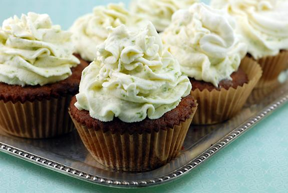 Coconut Cupcakes With Key Lime Frosting
