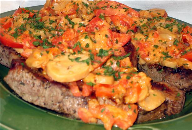 Easy Greek-seasoned Steak With Mushrooms & Tomatoes