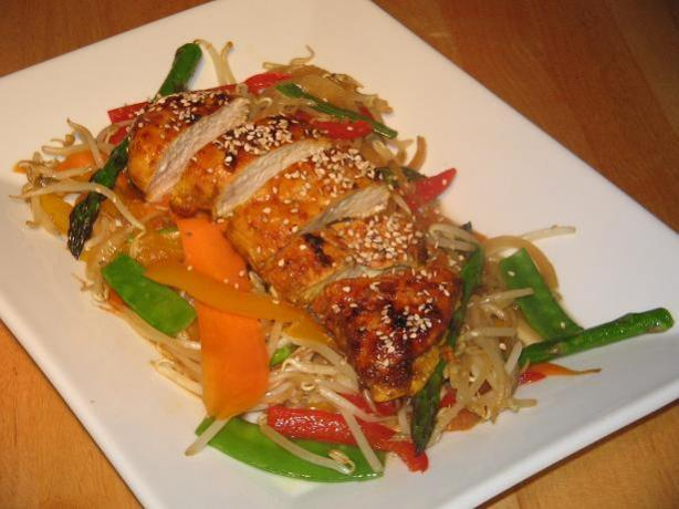 Spicy Chicken Breast/Roast With Stir Fried Vegetables