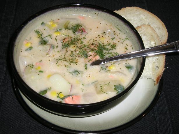 Hearty Salmon Chowder - American