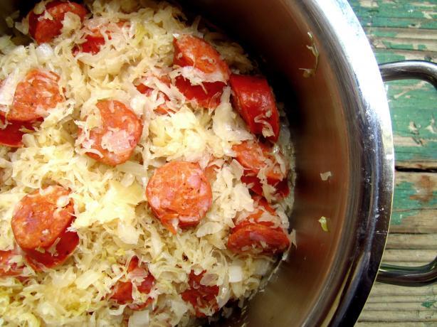 Crock Pot Kielbasa & Sauerkraut