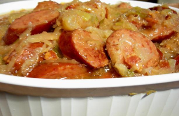 Crock Pot Sauerkraut Supper