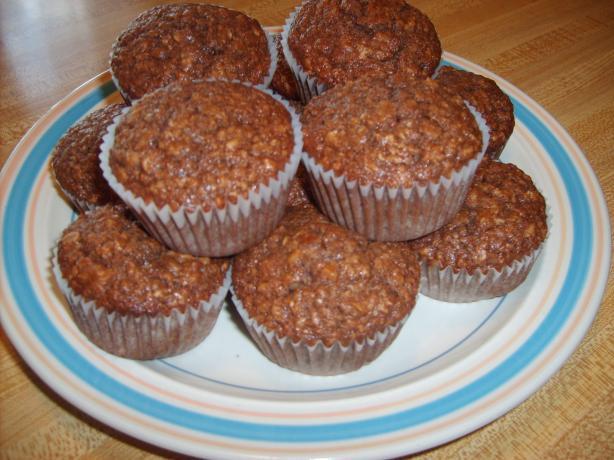 Chocolate Oatmeal Walnut Muffins