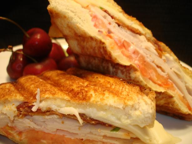 Turkey Club Panini (Sandwich)