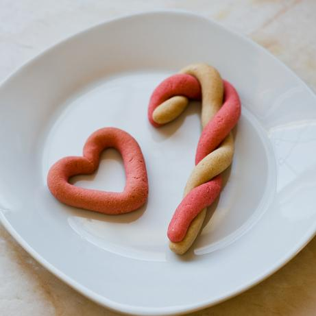 Candy Cane Cookies (Or Cutouts!)