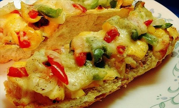 Chicken and Cheese French Bread Pizza