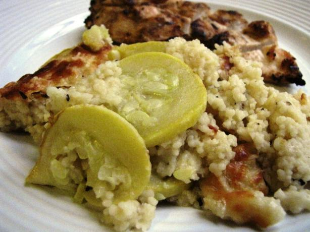 Baked Couscous With Summer Squash