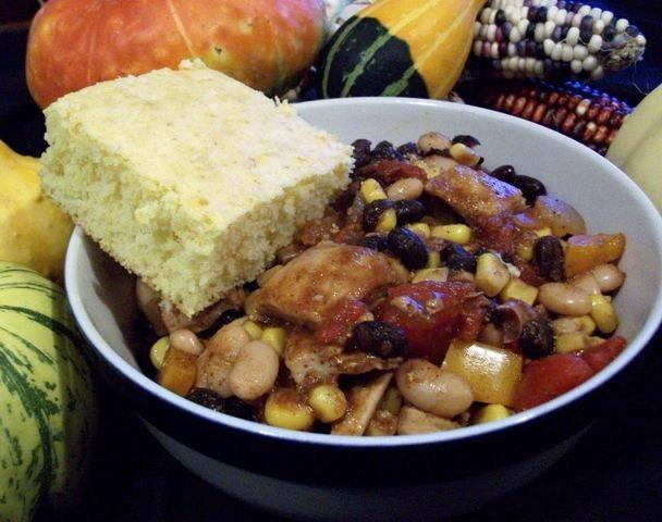 Black Bean and Corn Chicken Chili